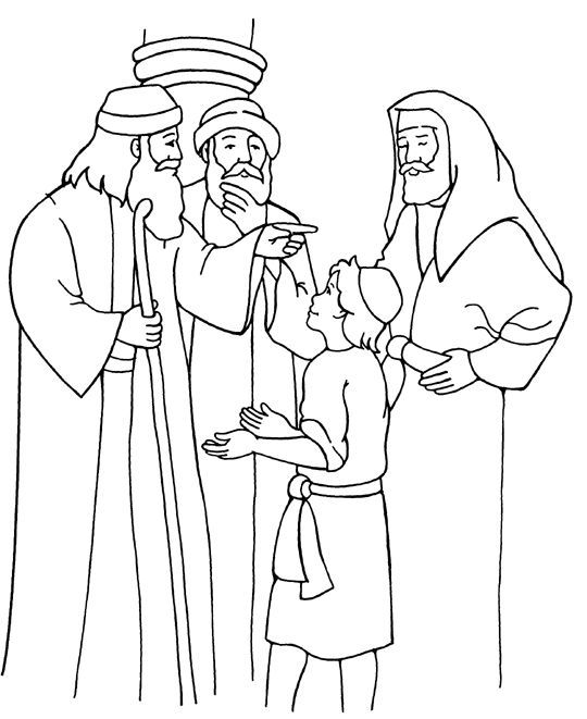 25++ Jesus at the temple coloring page free download