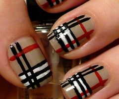 Burberry nails! Must. Do. This.