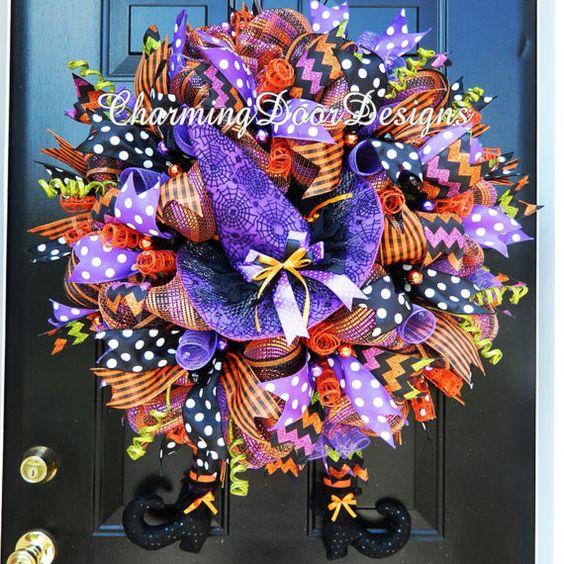 READY TO SHIP Gorgeous Deluxe Raz Halloween by CharmingDoorDesigns