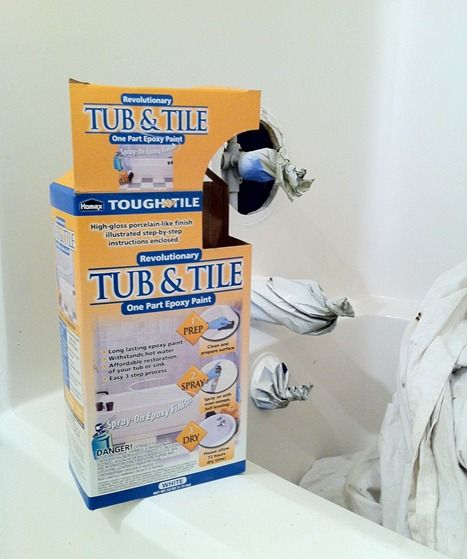 Refinish old tub, sink or tile with Homax Brush-on or Spray-on ...