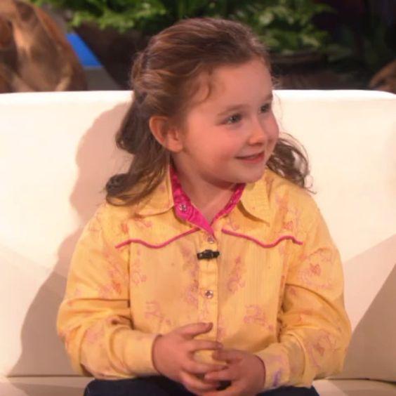 Macey Hensley on Ellen! :) Love her voice modulations & suspense build up/ eye contact with audience. #futurepublicspeaker :)