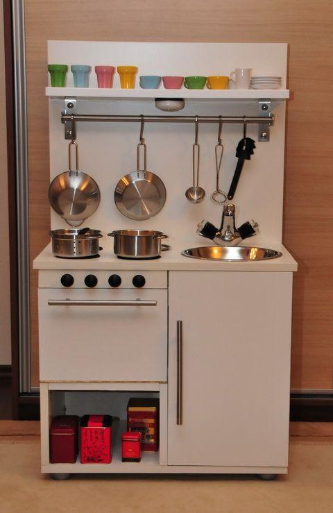Ikea Hacked Toddler Kitchen Diy Kitchen Pinterest Play Kitchens Diy Play Kitchen And Ikea