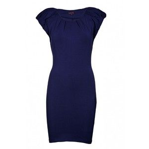 AX Paris Pleated Cap Sleeve Fitted Dress