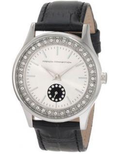 Ladies Silver Diamante Watch