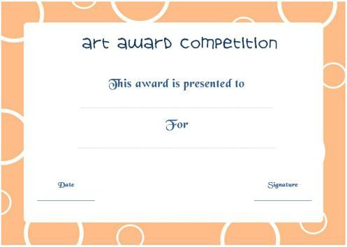 20 best art certificate templates images on pinterest art competition award certificate yelopaper Images