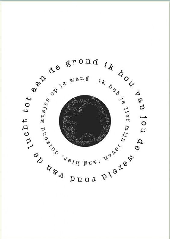 Gedicht poster wereld a3 gedicht op poster ik hou van jou de wereld rond plak hem boven - Decoratie pizzeria ...