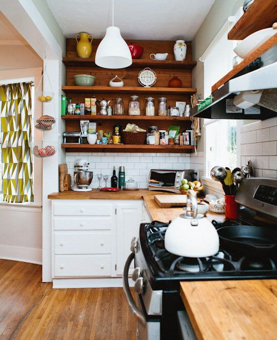 Lovely small kitchen space.