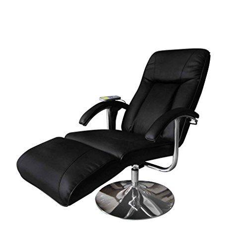 Vidaxl Fauteuil Relaxation Massage Relaxant Massant Electrique Chauffant Noir Fauteuil De Massage Fauteuil Relax Fauteuil