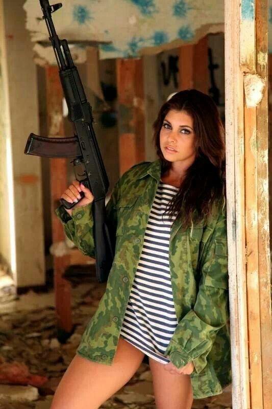 Glock Calendar Wallpaper : Guns girls ak and russian uniform parts only