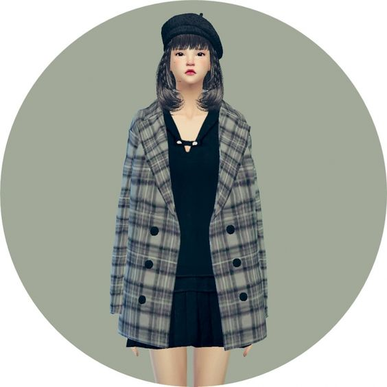 ACC winter coat checked at Marigold via Sims 4 Updates
