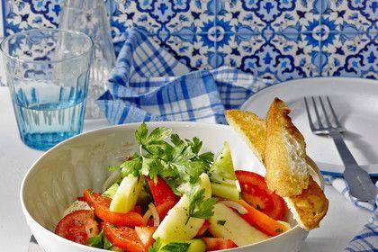 Tunesischer Gurkensalat mit Äpfeln, ein tolles Rezept aus der Kategorie Früchte…