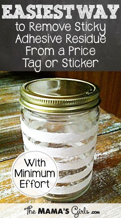 Easiest way to remove sticky residue ~~ from a sticker or price tag