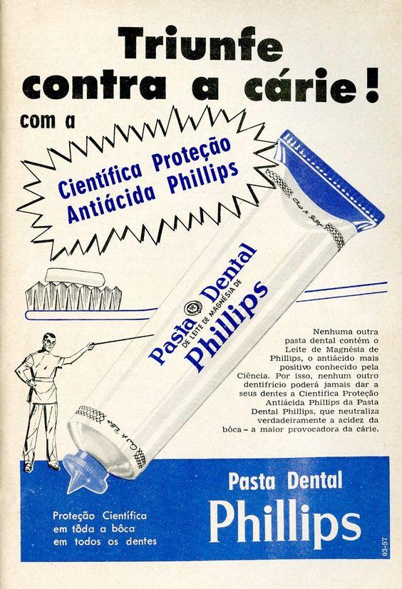 Anúncio antigo de pasta de dente