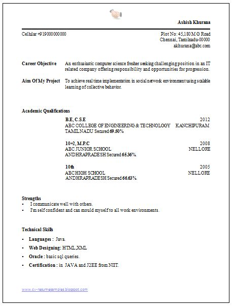 Simple resume template, Simple resume and Job seekers on Pinterest