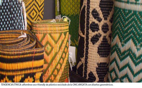 Tendencia etno alfombras africanas realizadas en pl stico - Alfombras para bano ...