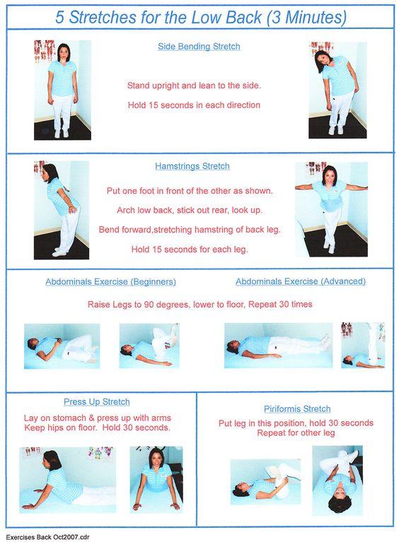 Exercise Programs: Exercise Program Spinal Stenosis