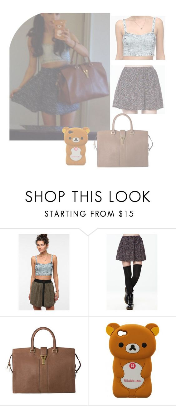 """Get the Look: Ariana Grande"" by roldanroo ❤ liked on Polyvore featuring moda, Out From Under y Yves Saint Laurent"