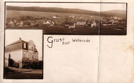 Alte Postkarte , motiv Wellerode