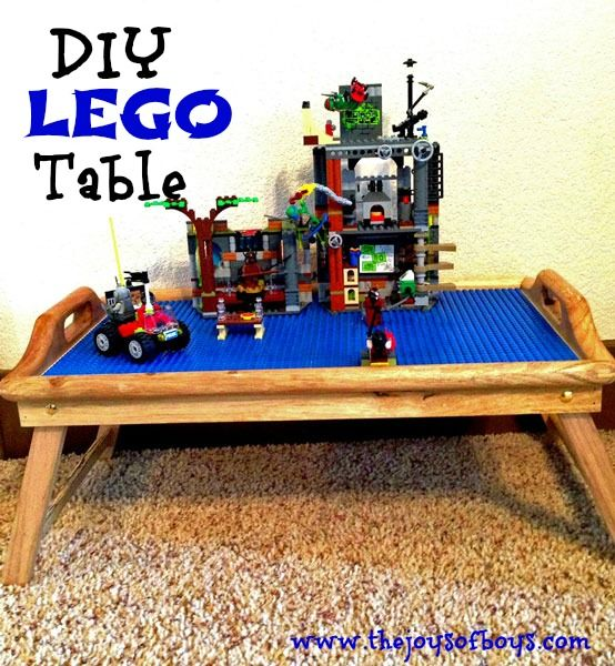 DIY LEGO Table - This would be so easy to make. Perfect for when Isaac wants to play with Lego's in the living room!!: