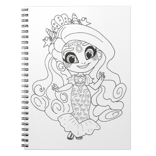 Hairdorables Sea Willow Coloring Notebook Zazzle Com Coloring Pages Color Art Sketches
