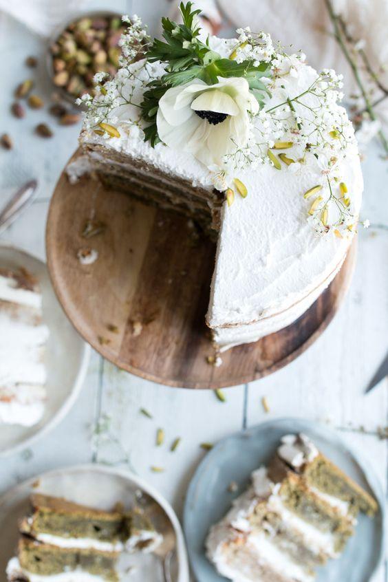 Vegan Tres Leches Cake with Matcha and Pistachio Milk