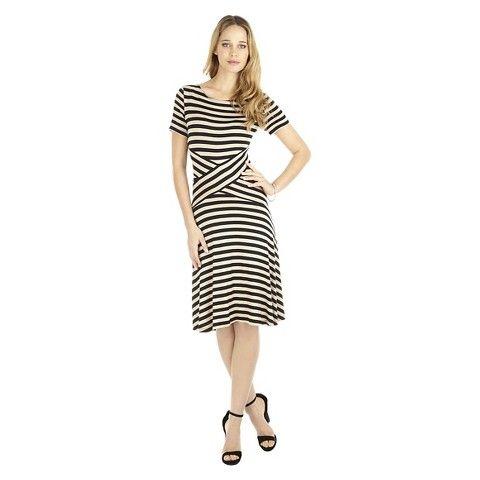 Women's Striped 3/4 Sleeve Dress - Sami & Dani