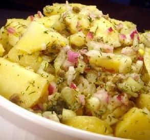 """Potato Salad With Lemon-Dill Vinaigrette: """"This makes a big batch for taking to a picnic. I served it at room temperature, but have had it warm and cold. It was really good each way! """" -Brooke the Cook in WI"""