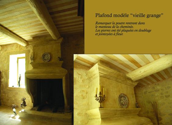 dans un garage sans int r t les murs ont t doubl s en pierres et le plafond proven al. Black Bedroom Furniture Sets. Home Design Ideas