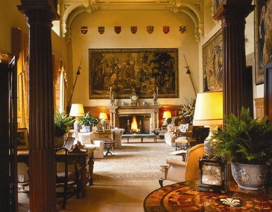 lighting ideas for rooms with high ceilings - Sandringham House interior country home of the British
