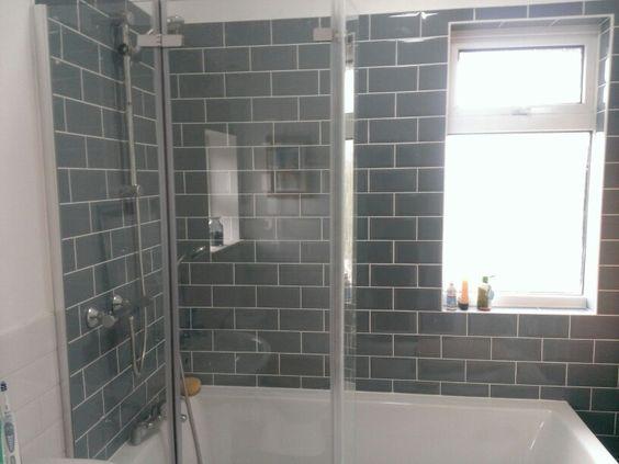 L Shaped Bath, Metro Tiles.