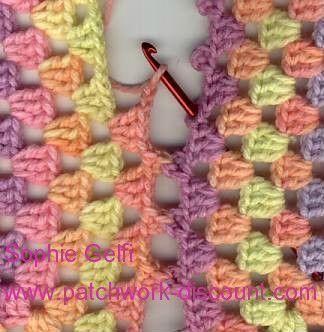 Crochet Assemblage Granny par Picots