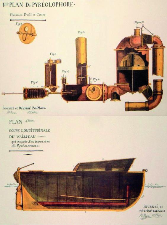 Le pyréolophore est un prototype de moteur dont l'amélioration progressive a permis le développement de certains des moteurs à combustion interne dont celui mis au point par Rudolf Diesel. Il sera développé conjointement par Claude Niépce et son frère Nicéphore, l'inventeur de la photographie. En 1807, les frères Niépce voient leurs recherches couronnées de succès. Ils obtiennent en effet, pour une période de dix années, un brevet d'invention pour leur moteur.