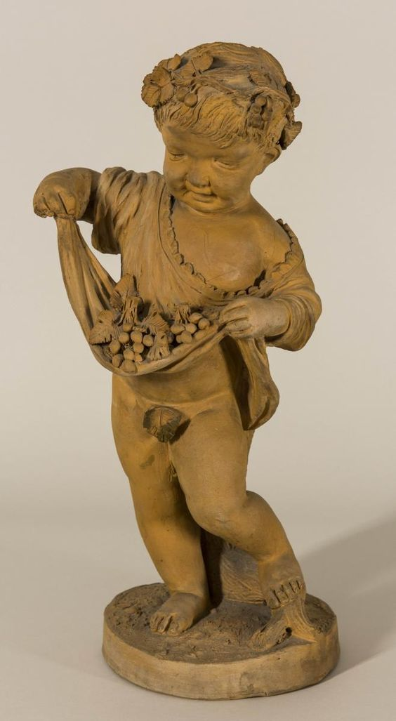 The harvest terracotta sculpture signed joncery 19th century - Galerie gilles linossier ...