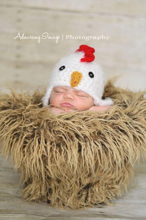 Newborn Crochet Chicken Hat Pattern : Baby Boys Rooster Hat Newborn 0 3m Fuzzy Chick Chicken Hat ...