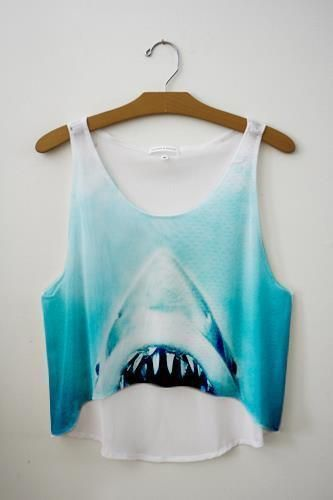 Jaws crop top. Need now.