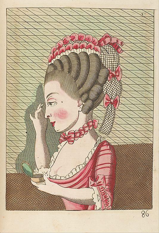 """Legros de Rumigny, """"L'art de la coëffure des dames françoises, avec des estampes 1768-70 (Met Museum)"""
