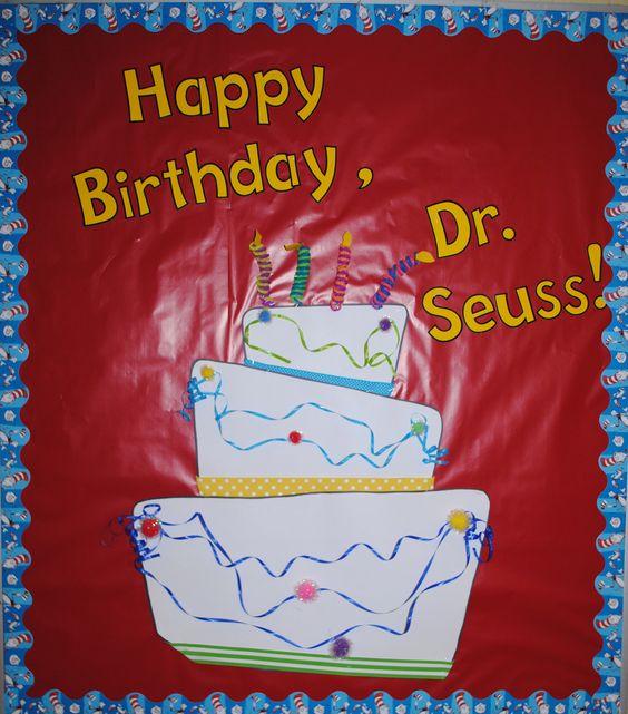 Dr. Seuss Birthday Cake Bulletin Board