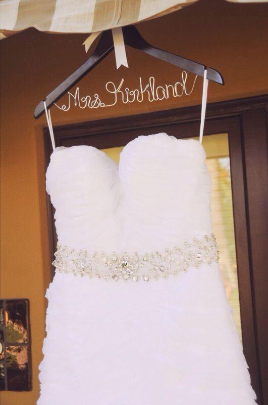 Last name on hanger/wedding