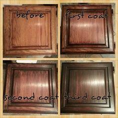 Walnut stain over oak cabinet | Kitchen | Pinterest | Walnut stain ...