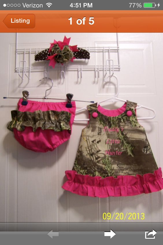 Max-1 camo dress from SusieBugsNeedle on Etsy!! Love this custom dress for my little Gracelyn!!