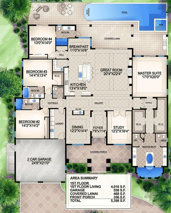 Southern home plans house and layout on pinterest for Southern luxury house plans
