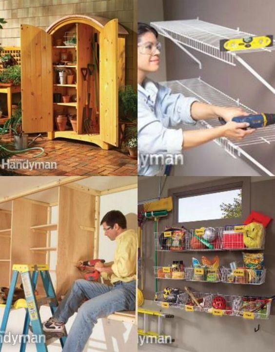Cestas de armazenamento - 49 dicas de organização Garagem Brilhante, Idéias e Projetos DIY