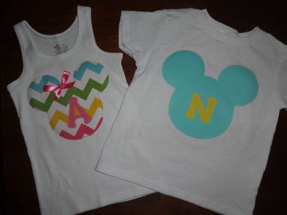 Brother Sister Chevron Mickey Shirts....PICK TWO...Adult Sizes also Available