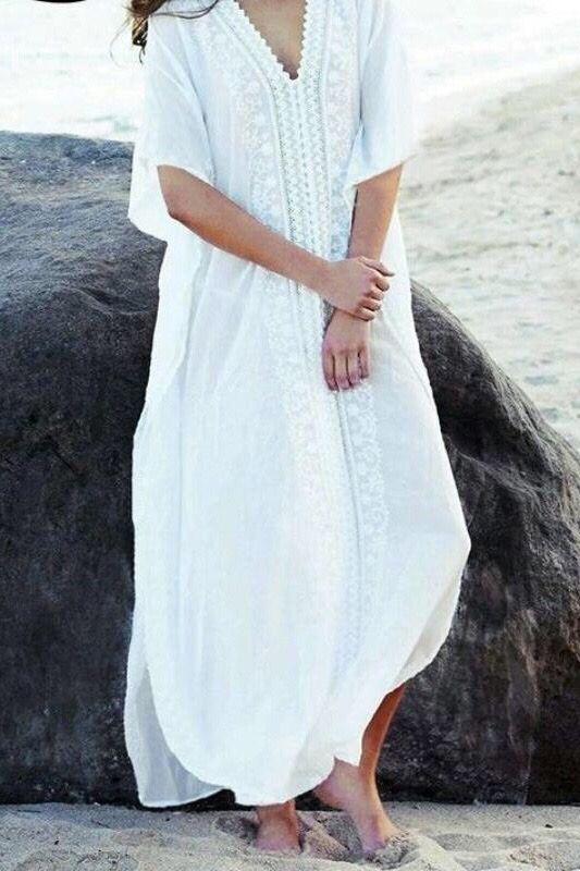 Gypsy White Boho Dress