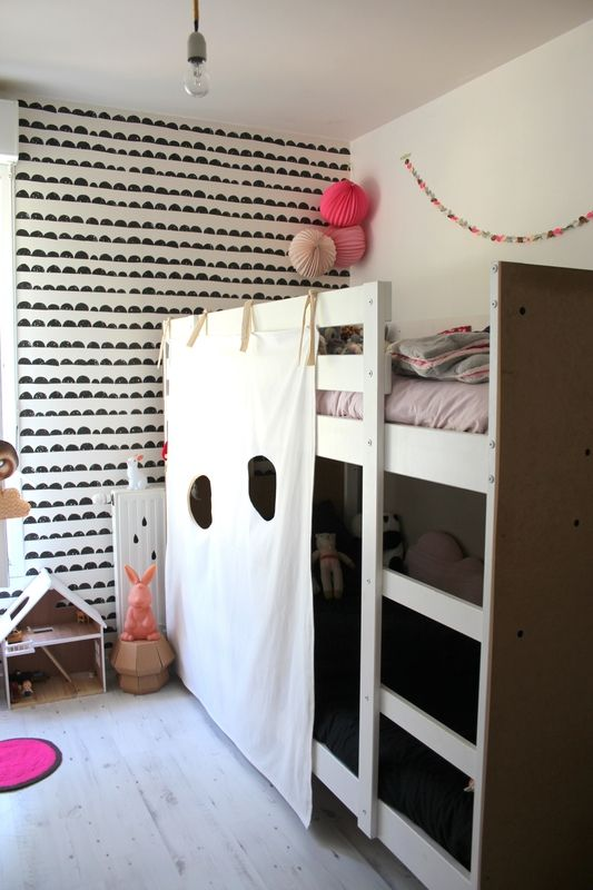 diy la cabane pour lit superpos enfant chambres d. Black Bedroom Furniture Sets. Home Design Ideas