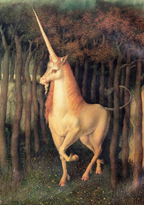 Gennady Spirin Illustration For The Tale Of The Unicorn By Otfried