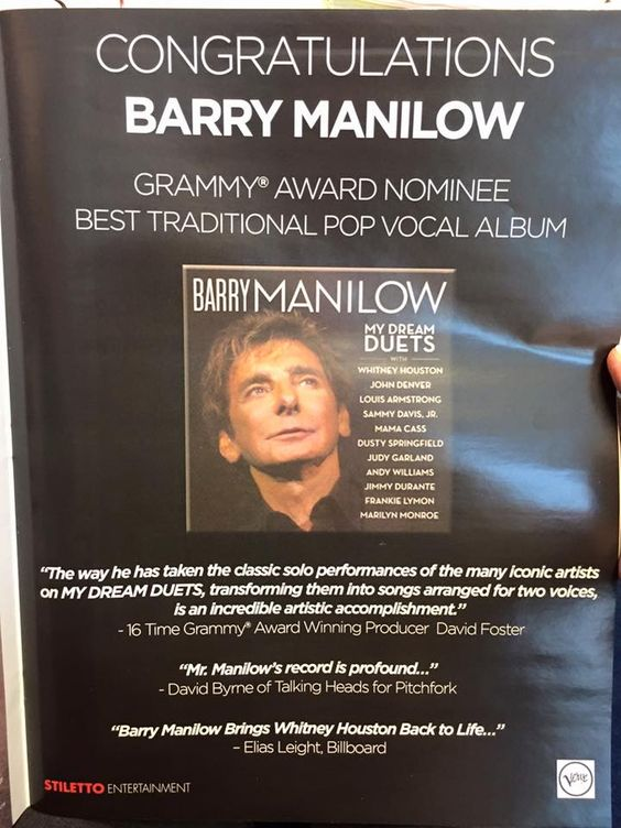 Billboard Barry Manilow ad.