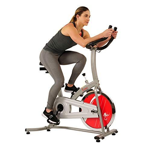 Sunny Health Fitness Indoor Cycle Exercise Stationary Bike With