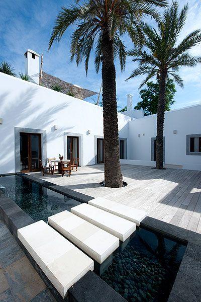 courtyard in Ibiza