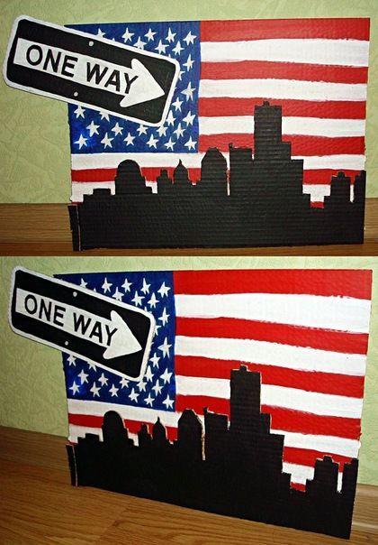 One Way. acryl